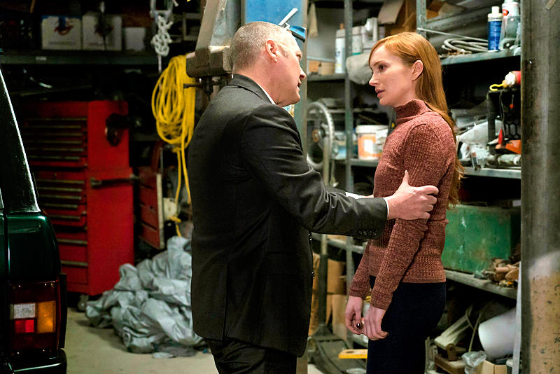 "2016 Episode Gallery: The Blacklist -- ALL CROPS -- ""Cape May"" Episode 319 -- Pictured: (l-r) James Spader as Red Reddington, Lotte Verbeek as Woman"