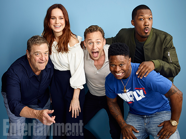 John Goodman, Brie Larson, Tom Hiddleston, Corey Hawkins, and Jason Mitchell, 'Kong: Skull Island'