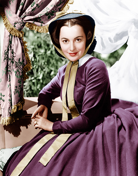 Olivia de Havilland in Gone With the Wind in 1939