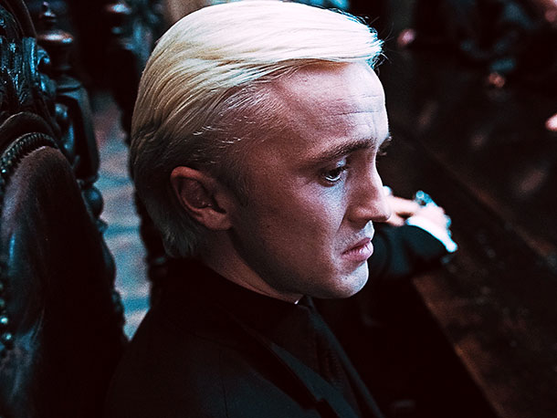 Harry Potter and the Deathly Hallows - Part 1 | The ivory-haired Muggle hater — son of Lucius Malfoy, one of Voldemort's top Death Eaters — displays surprising soulfulness during the series' conclusion. Enough to…