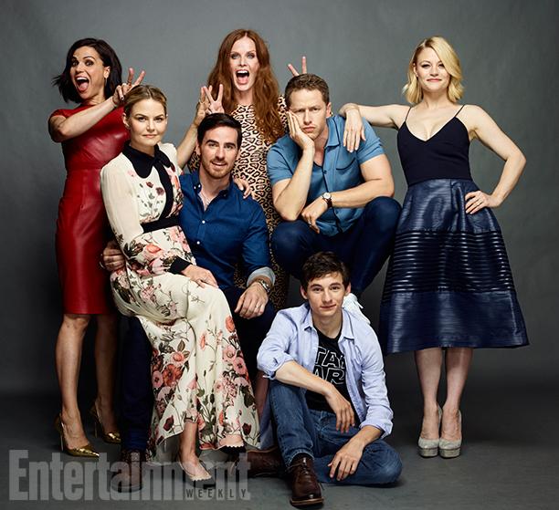 Lana Parrilla, Rebecca Mader, Josh Dallas, Emilie de Ravin, Jared Gilmore, Colin O'Donoghue, and Jennifer Morrison, 'Once Upon a Time'