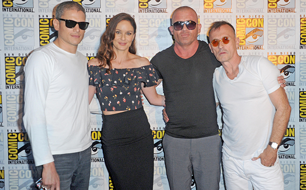 Wentworth Miller, Sarah Wayne Callies, Dominic Purcell and Robert Knepper at the Fox Action Showcase