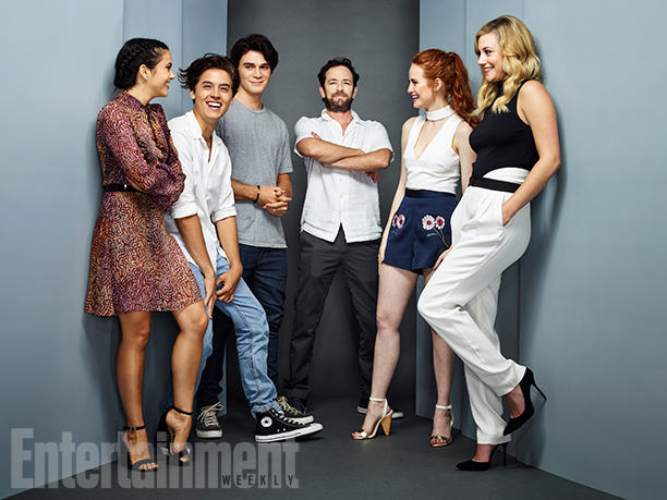 Camila Mendes, Cole Sprouse, KJ Apa, Luke Perry, Madelaine Petsch, and Lili Reinhart, 'Riverdale'