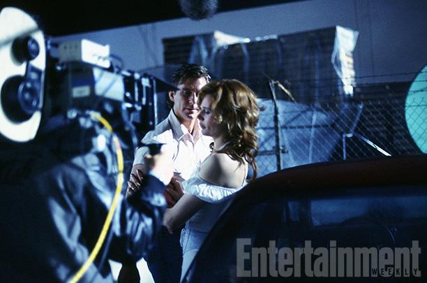 Timothy Carhart and Geena Davis Shoot a Critical Scene