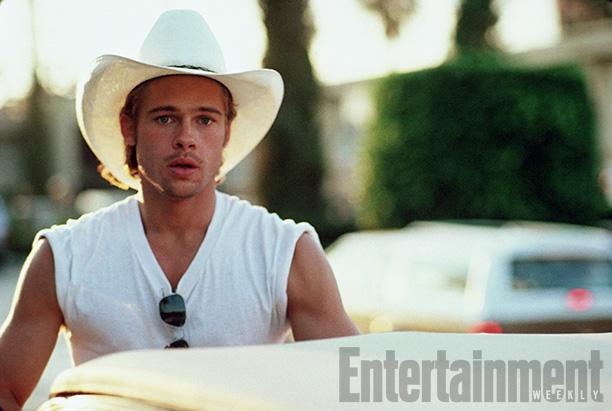 Brad Pitt Shooting a Scene