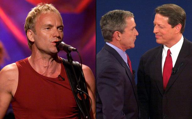 Sting vs. George W. Bush and Al Gore