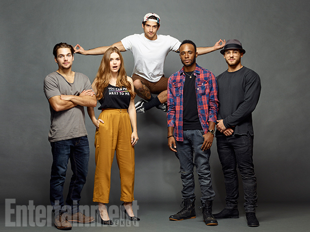 Dylan Sprayberry, Holland Roden, Tyler Posey, Khylin Rhambo and Cody Christian, 'Teen Wolf'