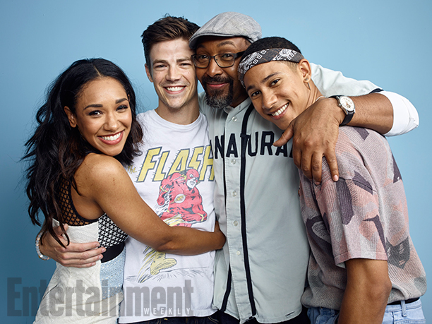 Candice Patton, Grant Gustin, Jesse L. Martin, and Keiynan Lonsdale, 'The Flash'