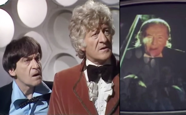 """3. William Hartnell (First Doctor) and Patrick Troughton (Second Doctor) in """"The Three Doctors"""" (1972)"""