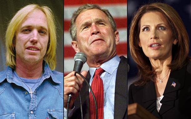 Tom Petty vs. George W. Bush and Michele Bachmann