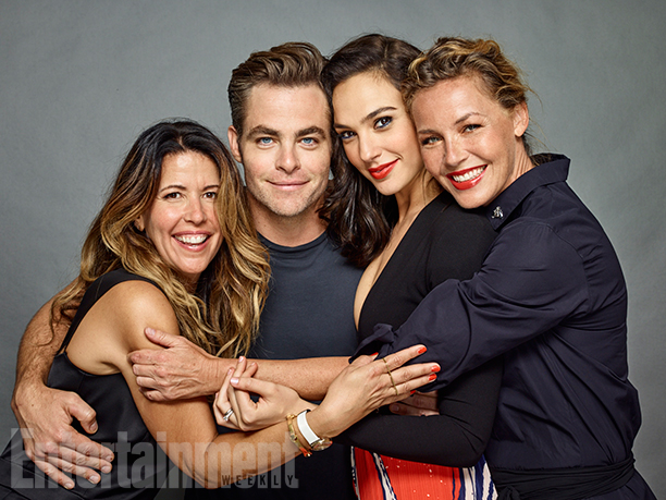 Director Patty Jenkins, Chris Pine, Gal Gadot, and Connie Nielsen, 'Wonder Woman'