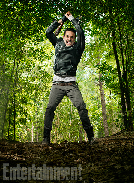 Jeffrey Dean Morgan photographed in the middle of the woods outside of Atlanta