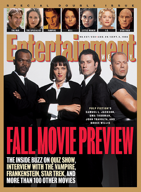 1994: The cast of Pulp Fiction
