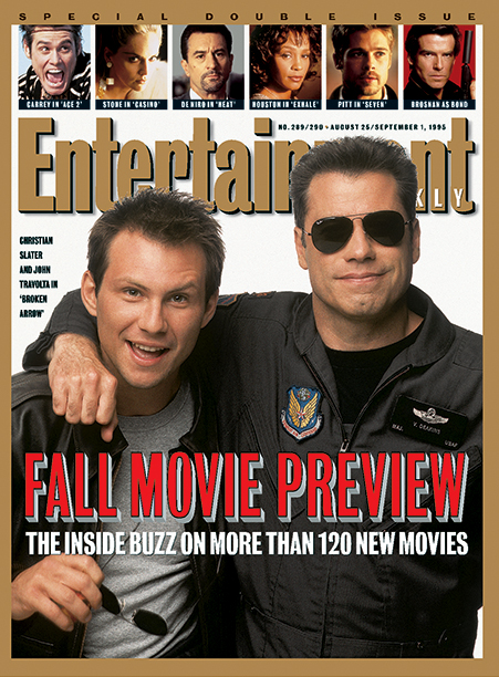 1995: Broken Arrow stars Christian Slater and John Travolta