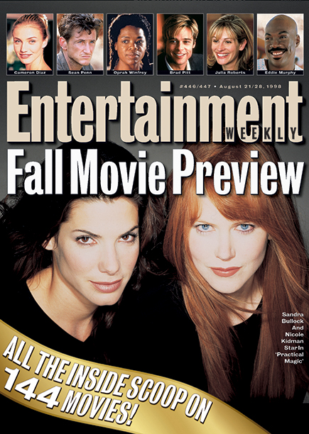 1998: Sandra Bullock and Nicole Kidman in Practical Magic