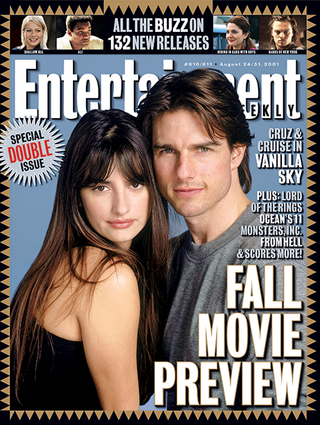 2001: Vanilla Sky stars Penelope Cruz and Tom Cruise
