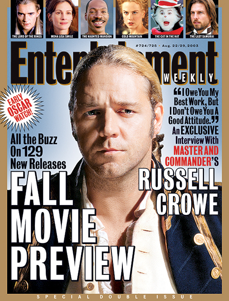 2003: Russell Crowe in Master and Commander
