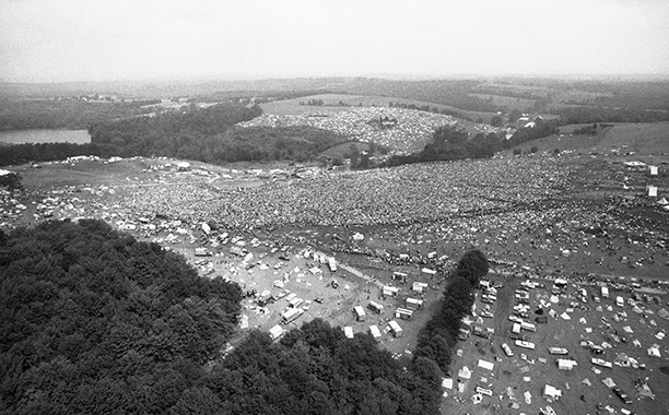 An Aerial View of Woodstock