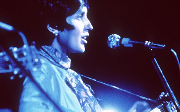 Joan Baez Performing at Woodstock