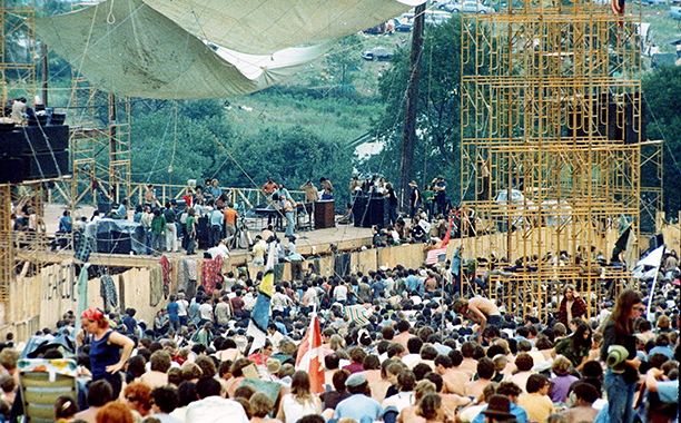 The Stage at Woodstock in August 1969