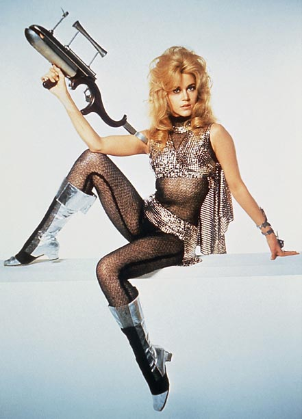 Jane Fonda, Barbarella | Has there ever been a sexier (or less practical) spacesuit than the one worn by Jane Fonda in the 1968 cult classic Barbarella ? To…