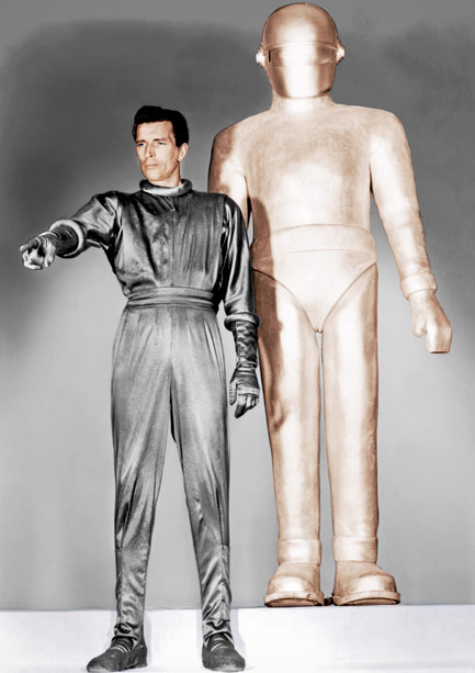 The Day the Earth Stood Still | The 1951 anti-war flick was one of the earliest films to feature spacesuit costumes. Klaatu's (Michael Rennie) sleek silver uniform—and the matching look sported by…