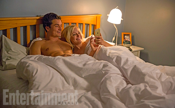 Orlando Bloom and Malin Akerman in Easy