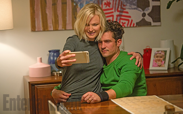 Malin Akerman and Orlando Bloom in Easy
