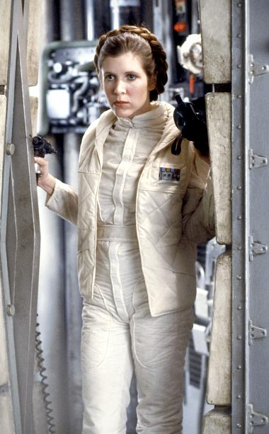 Carrie Fisher, Star Wars: Episode V - The Empire Strikes Back | After collaborating with writer-director George Lucas, Academy Award winning costume designer John Mollo returned for the second installment of the Star Wars franchise to create…