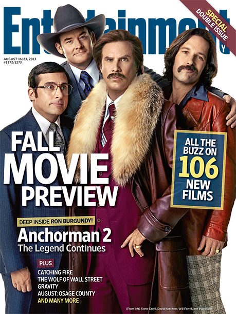 2013: The cast of Anchorman 2: The Legend Continues
