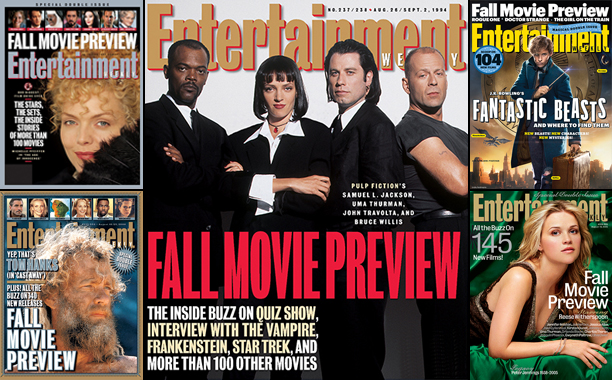 EW's Fall Movie Preview Through the Years