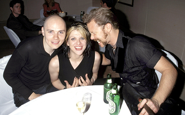 Billy Corgan, Courtney Love, and James Hetfield