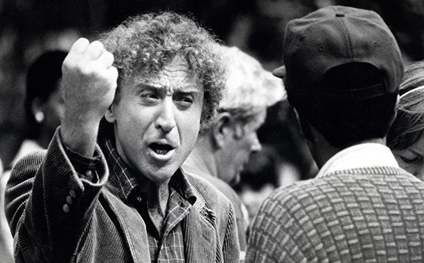 Gene Wilder Filming See No Evil, Hear No Evil With Richard Pryor on August 30, 1988