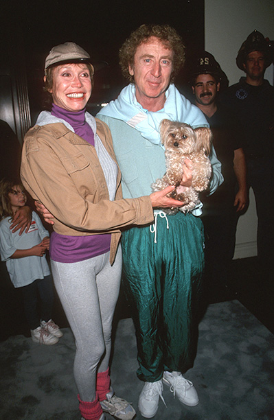 Gene Wilder With Mary Tyler Moore at the Opening of Gilda's Club for Cancer Support on October 17, 1993