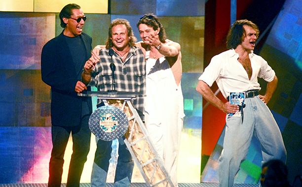 Best Male Video Presenters David Lee Roth, Michael Anthony, Eddie Van Halen, and Alex Van Halen of Van Halen