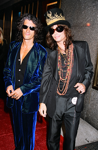 Presenters Joe Perry and Steven Tyler of Aerosmith