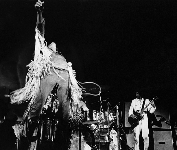 Roger Daltrey and Pete Townshend of The Who Performing at Woodstock