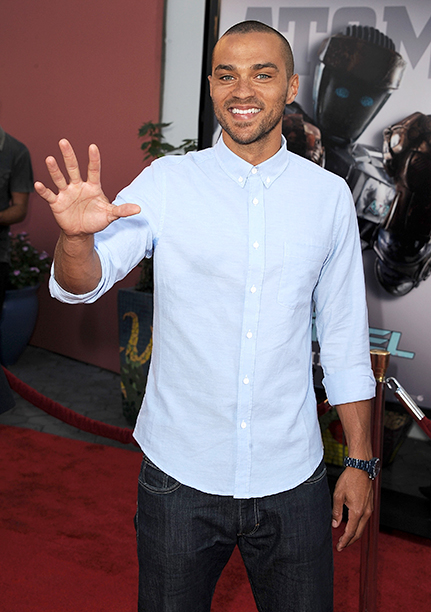 Jesse Williams at the Real Steel Los Angeles Premiere on October 2, 2011