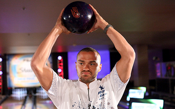 Jesse Williams at the Celebrity Invitational Bowling Tournament in Los Angeles on January 12, 2012