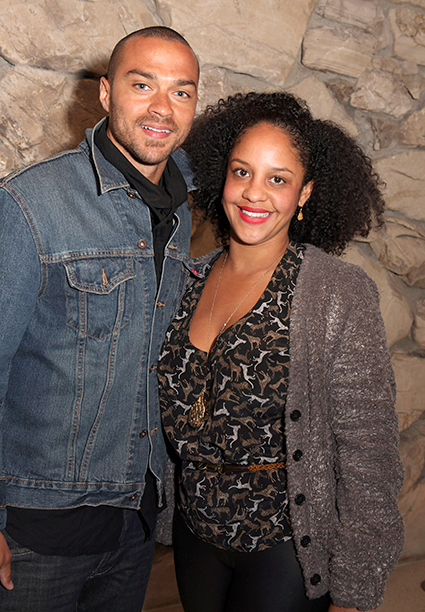Jesse Williams With His Wife Aryn Drake-Lee in Los Angeles on January 18, 2012