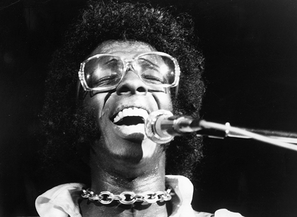 Sly Stone of Sly and the Family Stone Performing at Woodstock