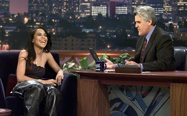 Aaliyah on The Tonight Show with Jay Leno on April 26, 2000