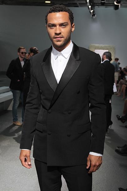 Jesse Williams at Paris Fashion Week on June 29, 2012