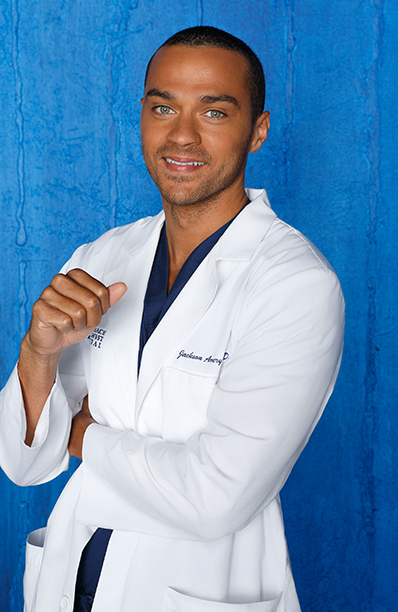 Jesse Williams as Dr. Jackson Avery on Grey's Anatomy on August 26, 2012