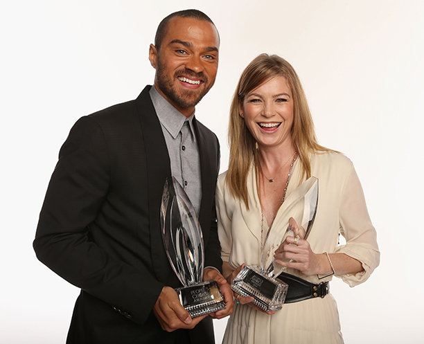 Jesse Williams With Ellen Pompeo at the 39th Annual People's Choice Awards on January 9, 2013
