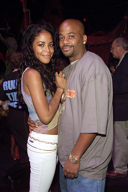 Aaliyah With Damon Dash at the Planet of the Apes Premiere Afterparty in New York City on July 23, 2001