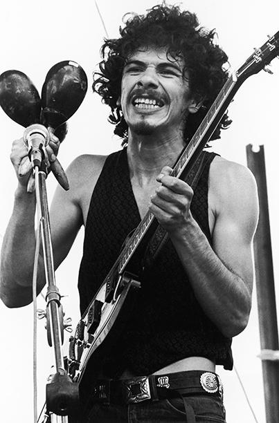 Carlos Santana Performing at Woodstock