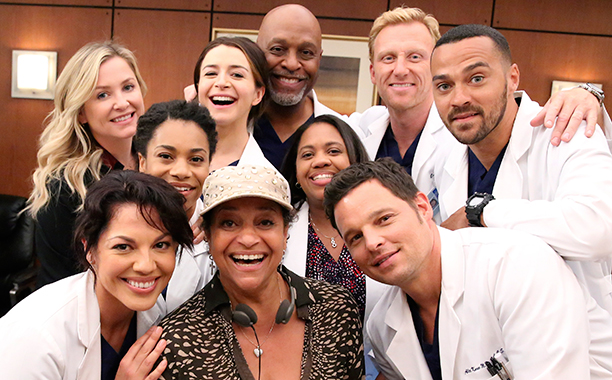 Jesse Williams With the Cast of Grey's Anatomy on August 10, 2015