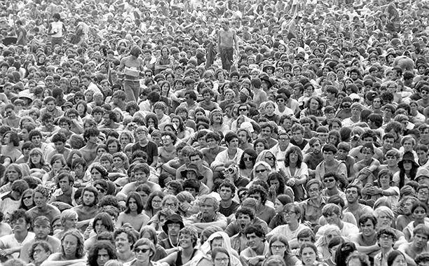 The Crowd at Woodstock