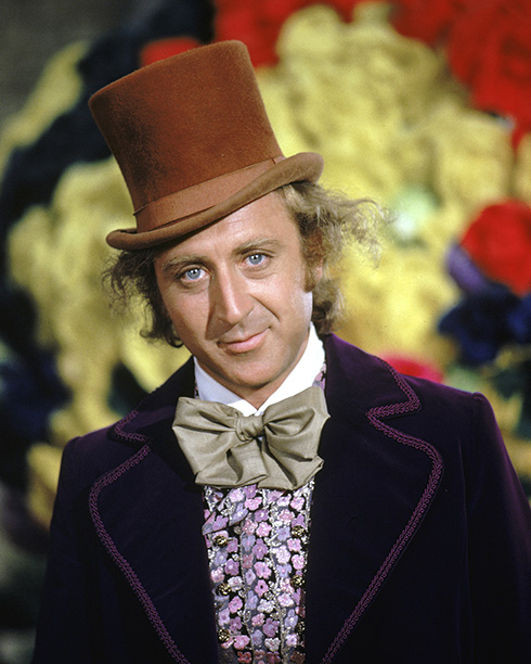 Gene Wilder as Willy Wonka in Willy Wonka & The Chocolate Factory in 1971